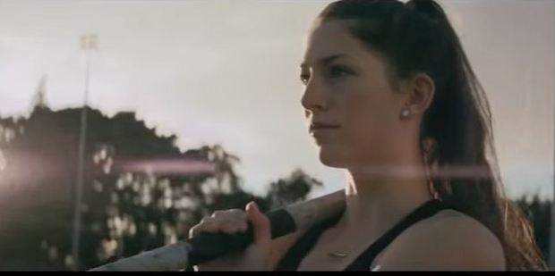 Pole vaulter Eliza McCartney in the Anchor Start Strong Go Strong ad. Photo / YouTube