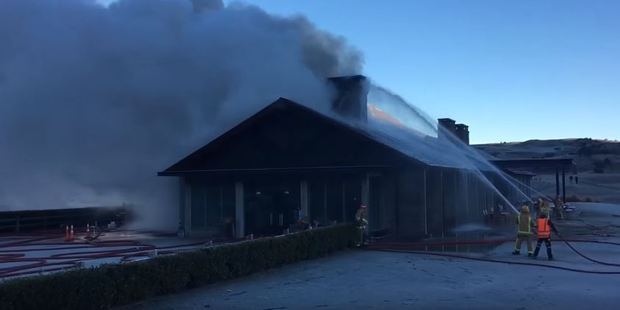 Loading Four appliances have been sent to the blaze at Jack's Point golf course. Photo / Otago Daily Times