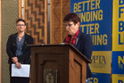 PPTA president Angela Roberts and NZEI president Louise Green launched a joint campaign to pressure the Government to drop the new 'global budget' for schools.
