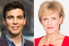 Hilary Barry and Jack Tame are set to take over Breakfast next month. Photos / Supplied