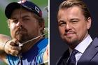 Are actor Leonardo DiCaprio and Olympic archer Brady Ellison the same person? Photos / AP