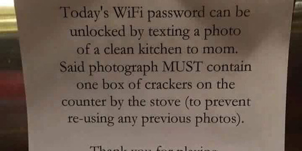 Children not doing their share of the chores? Try this cunning trick. Photo / Imgur