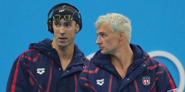 Ryan Lochte's silver look near the start of the Olympics. Photo / AP