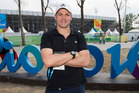 Richie McCaw outside the Deodoro Stadium at the Rio Olympics Games. www.photosport.nz
