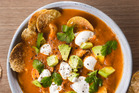 Mexican tomato and tortilla soup, perfect for dinner on a cold winter's night. Photo / Bite magazine