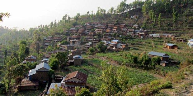 The chopper was en route to Kathmandu when it went down in Nuwakot district. Photo / Supplied