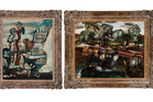 Two paintings by influential painter Frances Hodgkins.