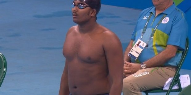 Questions have been asked about how Robel Kiros came to swim at the Olympics. Photo / Screengrab
