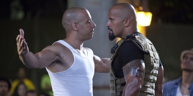 """The Rock says """"with any team that's a family, there's gonna be conflict""""."""