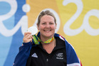 Natalie Rooney picks up New Zealand's first medal of the Rio Games after winning Silver in the womens trap. www.photosport.nz