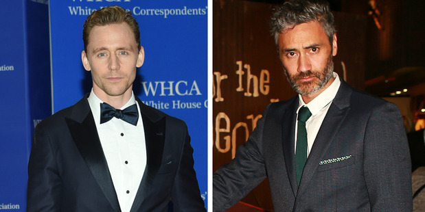 Tom Hiddleston's having a grand ol' time with Taika Waititi on Thor. Photos / AP, Norrie Montgomery