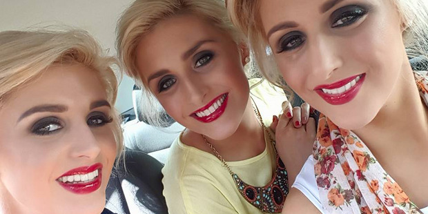 The model triplets, 29, even book hairdresser appointments at the same time, to ensure their styles look identical. Photo / Facebook / The Crimmins Triplets
