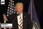 """Donald Trump has unleashed a series of nasty personal attacks against his Democratic opponent, Hillary Clinton, mocking her appearance and questioning her mental health several times during a New Hampshire campaign rally and on social media.  """"She is a totally unhinged person. She's unbalanced. And all you have to do is watch her, see her, read about her,"""" Trump said during a campaign rally in Windham, New Hampshire. """"She will cause - if she wins, which hopefully she won't - the destruction of our country from within."""""""