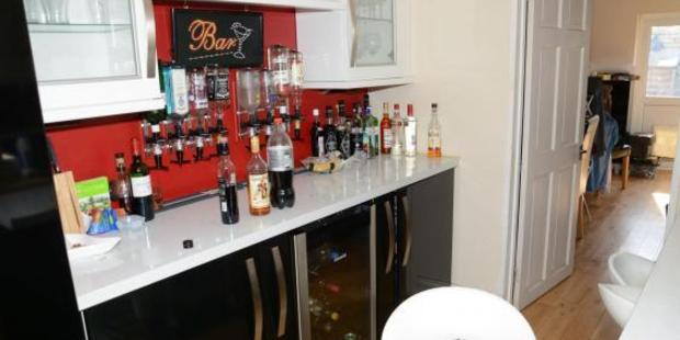 A bar in Nigel Wilkinson's home, where victims were so heavily drugged that they may not have realised what happened. Photo / Avon and Somerset Police