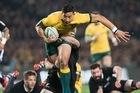 Israel Folau has scored 20 tries in 41 tests. Photo / Greg Bowker