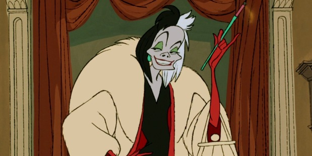 Cruella Deville from 101 Dalmatians smoked cigarettes, which is now banned in future Disney movies.