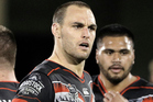 Simon Mannering reacts after his Warriors side's frustrating loss to the Rabbitohs. Photo / Photosport.co.nz