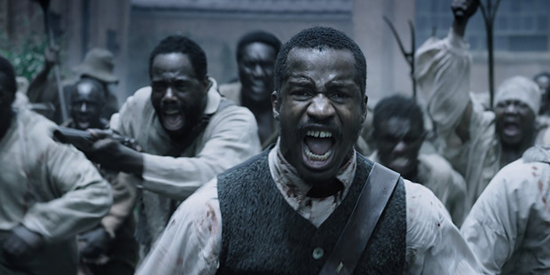 Nate Parker (centre) in The Birth of a Nation.