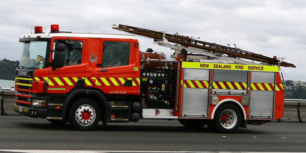 A person suffered burns in a building fire in south Auckland. Photo / File