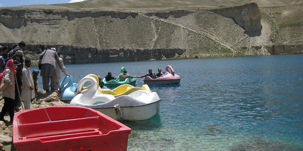 Swan boats on Band-e-Amir lake in Bamiyan. Photo / Flickr, US Embassy Kabul Afghanistan