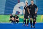 The Black Sticks men are left devastated after Germany snatched a 3-2 win. Photo / Photosport.nz