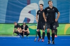 Black Sticks despondent after a last-second goal clinched Germany a semifinal berth at the Rio Olympics. Photo / Photosport.nz