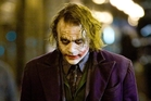 Oscar winner Heath Ledger as the Joker in <i>The Dark Knight</i>.