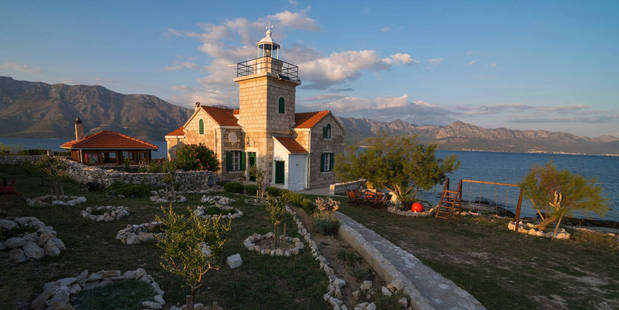 Get back to nature at this lighthouse in Hvar, Croatia. Photo / Airbnb