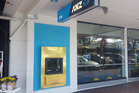 ANZ's Whakatane branch has wrapped the ATM in gold to celebrate local Olympic hero Lisa Carrington's gold medal win in Rio.  Photo/Supplied