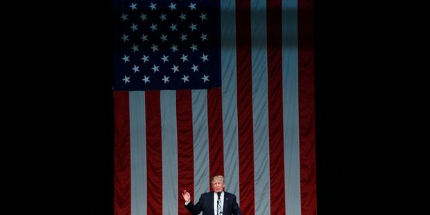 Republican presidential candidate Donald Trump in Connecticut. Photo / AP