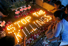 Human rights activists light candles for the victims of extra-judicial killings around the country in the wake of the 'War on Drugs' campaign by Philippine President Rodrigo Duterte. Photo / AP
