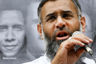 This file photo of radical Muslim preacher Anjem Choudary shows him speaking during a protest outside the Syrian Embassy in London. Photo / AP