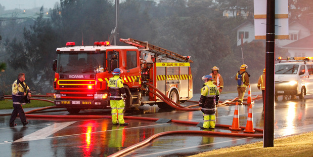 Five fire crews are at a blaze in Waiuku. Photo / file