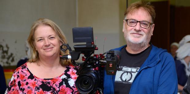 Gloriavale documentary makers Amanda Evans and Ivars Berzins.