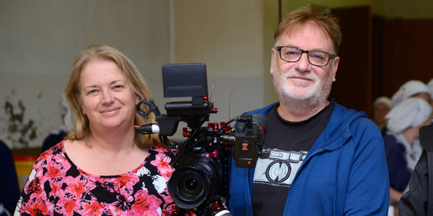 Gloriavale documentary makers Amanda Evans and Ivars Berzins.
