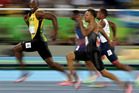 Usain Bolt of Jamaica competes in the Men's 100 meter semifinal. Photo / Getty Images.