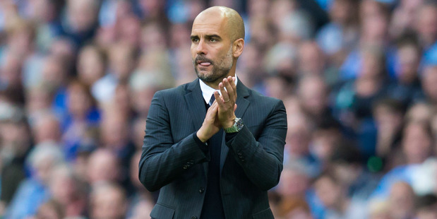 Manchester City manager Pep Guardiola on the sideline during his side's 2-1 win over Sunderland this morning (NZT). Photo / AP