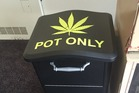This bin gives people the chance to surrender their stash without facing any consequences. Photo / Reddit, THE-SEER