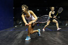 Aisling Blake competes against Megan Craig. Photo / Getty Images