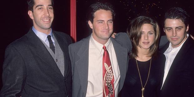 David Schwimmer with co-stars Matthew Perry, Jennifer Aniston and Matt LeBlanc. Photo / Getty Images