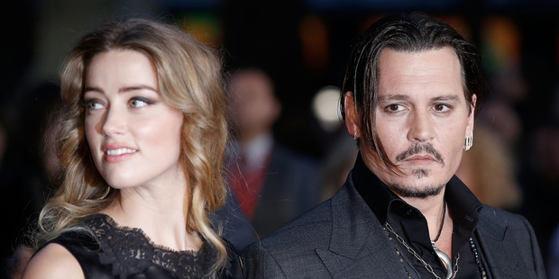 Heard and Depp attend the BFI London Film Festival together, at Odeon Leicester Square.