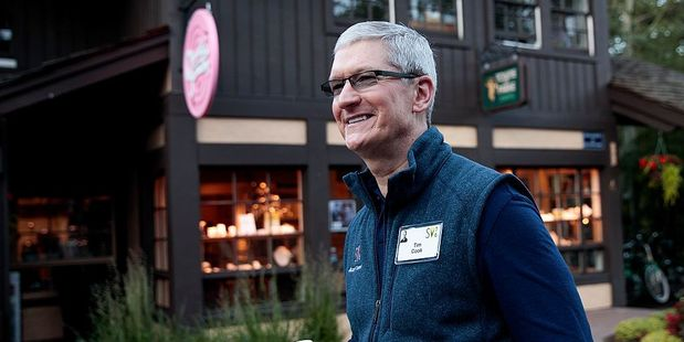 Tim Cook attends the annual Allen & Company Sun Valley Conference in the US. Photo / Andrew Burton
