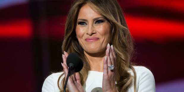 Melania Trump, wife of Republican presidential nominee Donald Trump, is rarely lost for words. Photo / Getty Images