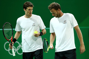 Marcus Daniell and Michael Venus of New Zealand in action at the Rio Olympics. Photo / Getty Images