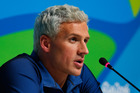 US swimmer Ryan Lochte at an Olympic press conference. Photo / Getty Images