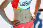 Chisato Fukushima sports some odd spots on her stomach. Photo / Getty