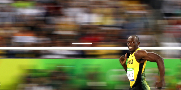 Usain Bolt competes at Rio. Photo / Getty Images