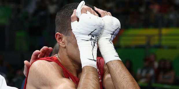 Muhammad Ali of Great Britain reacts after losing in the Olympic boxing. Photo / Getty