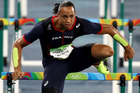 Frenchman Pascal Martinot-Lagarde competes during the men's 110m hurdles. Photo / Getty