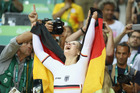 Kristina Vogel of Germany celebrates after winning gold in the women's sprint. Photo / Getty